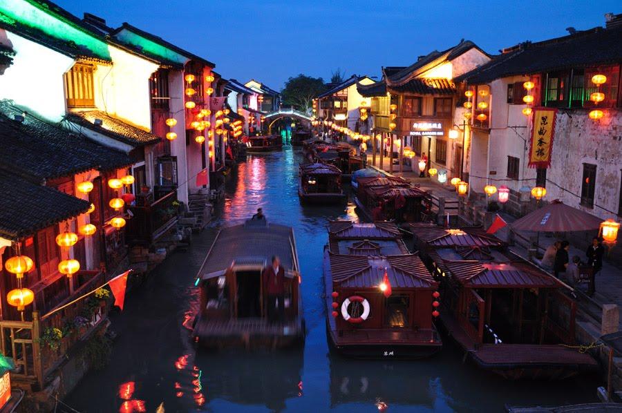 Du lịch Tô Châu trên thuyền