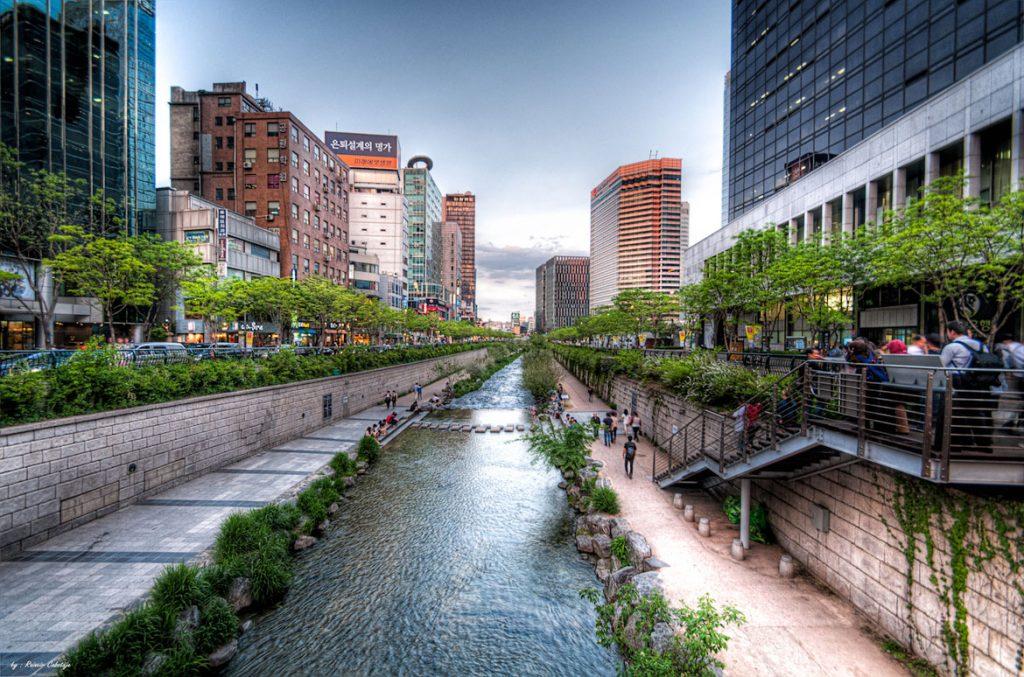 Suối Cheonggyecheon - Vẻ đẹp suối nhân tạo giữa lòng Seoul - ảnh 1